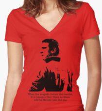 Eric Cantona Women's Fitted V-Neck T-Shirt