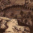 """LLAL - Digital printmaking of original etching. by Belinda """"BillyLee"""" NYE (Printmaker)"""