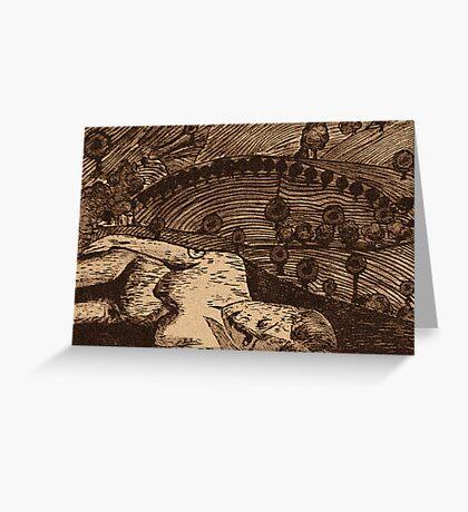 LLAL - Digital printmaking of original etching. Greeting Card