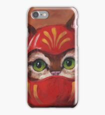 Daruma Kitty Painting iPhone Case/Skin