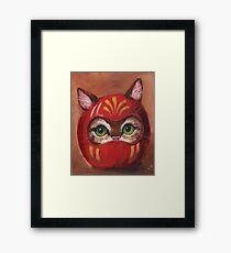 Daruma Kitty Painting Framed Print