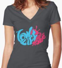persona 5 ichiko ohya lowlife  Women's Fitted V-Neck T-Shirt