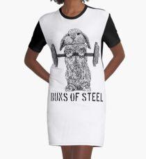 Buns of Steel (Light) Graphic T-Shirt Dress
