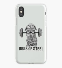 Buns of Steel (Light) iPhone Case/Skin
