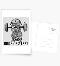 Buns of Steel (Light) Postcards