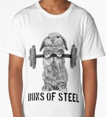 Buns of Steel (Light) Long T-Shirt