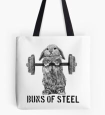 Buns of Steel (Light) Tote Bag