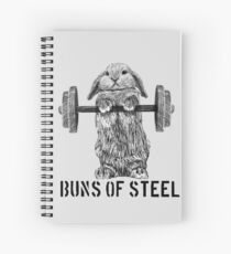 Buns of Steel (Light) Spiral Notebook