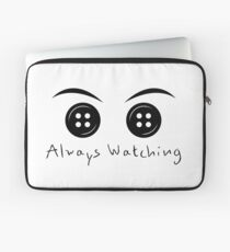 Button Eyes Laptop Sleeve