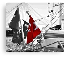 Flag of Turkey - Selective Coloring  Canvas Print