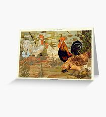 Roosters and hens Greeting Card