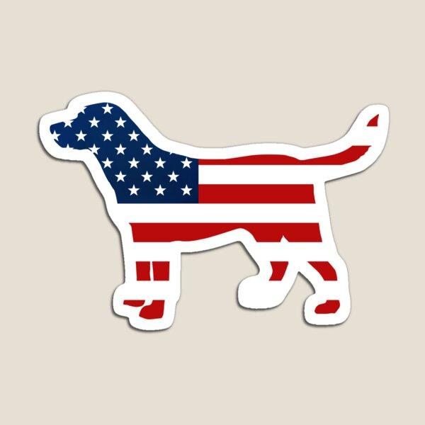 Labrador Retriver Patriotic USA Flag Stars and Stripes Lab Magnet