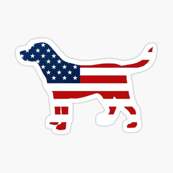 Labrador Retriver Patriotic USA Flag Stars and Stripes Lab Sticker
