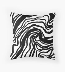 LINEAR LANDSCAPE, lines, line drawing, curves Throw Pillow