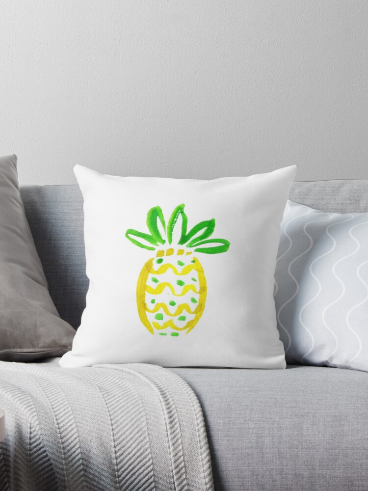 Lilly Pulitzer Inspired Pineapple Throw Pillows By Caro Owens Custom Lilly Pulitzer Decorative Pillows