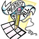 The Mightiest (sticker) by lauriepink