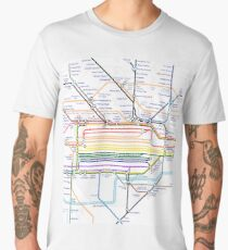 London Pride Tube Map (no text) Men's Premium T-Shirt