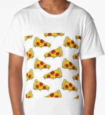 pizza seamless doodle pattern Long T-Shirt