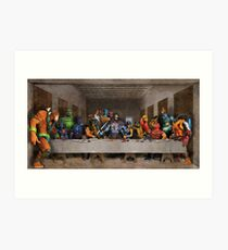 He-Man Villains Epic Last Supper Art Print