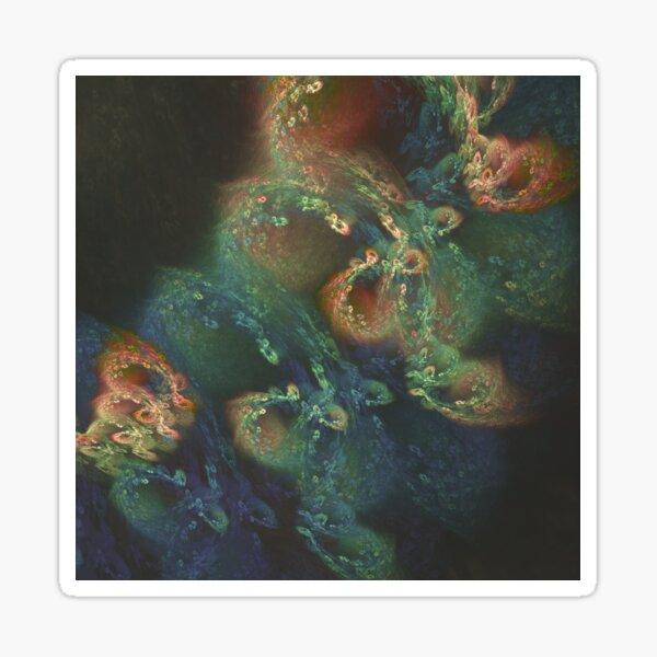 Underwater fractals Sticker