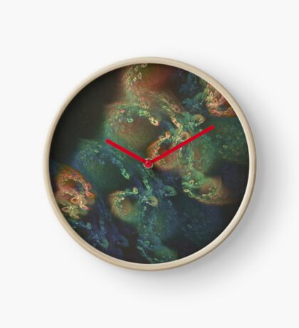 Underwater fractals Clock