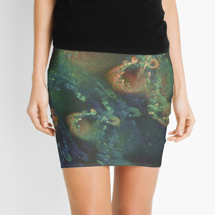 Underwater fractals Mini Skirt