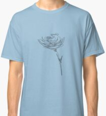 abstract rose. drawing. line.  Classic T-Shirt