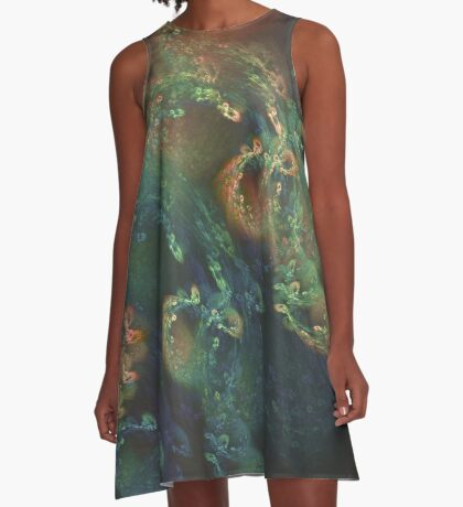 Underwater fractals A-Line Dress