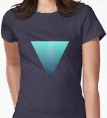 Water Triangle Womens Fitted T-Shirt