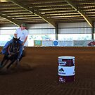First Up, In The Memorial Barrel Race Event by WildestArt