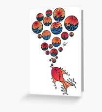 Sunset bubbles Greeting Card