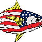 «Tuna Head USA Bandera estadounidense» de Statepallets