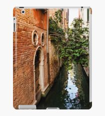 Impressions Of Venice - Small Canal Hugged by a Fig Tree iPad Case/Skin
