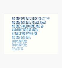 Dear Evan Hansen: Disappear Art Print