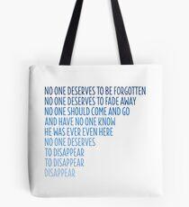 Dear Evan Hansen: Disappear Tote Bag