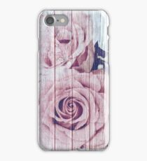 Vintage Shabby Chic Dusky Pink Rose iPhone Case/Skin