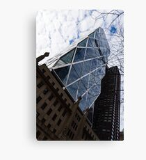 Hearst Tower Through the Bare Branches - Midtown Manhattan, New York City, USA Canvas Print
