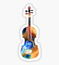 Colorful Violin Sticker