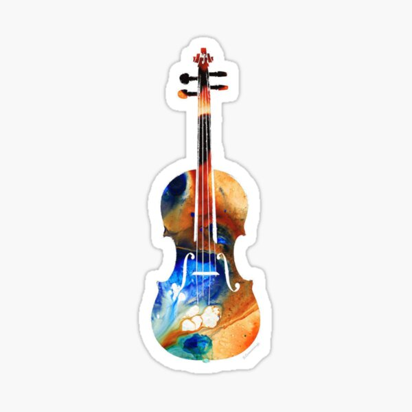 Colorful Violin Sticker