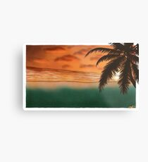 Beach Sunset. Metal Print
