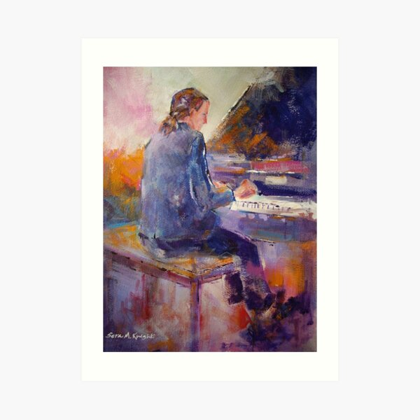 Playing The Piano - Music Art Gallery 9 Art Print