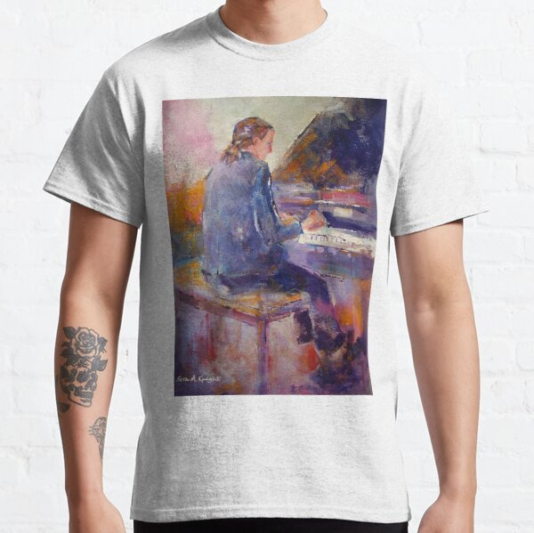 Playing The Piano - Music Art Gallery 9 Classic T-Shirt