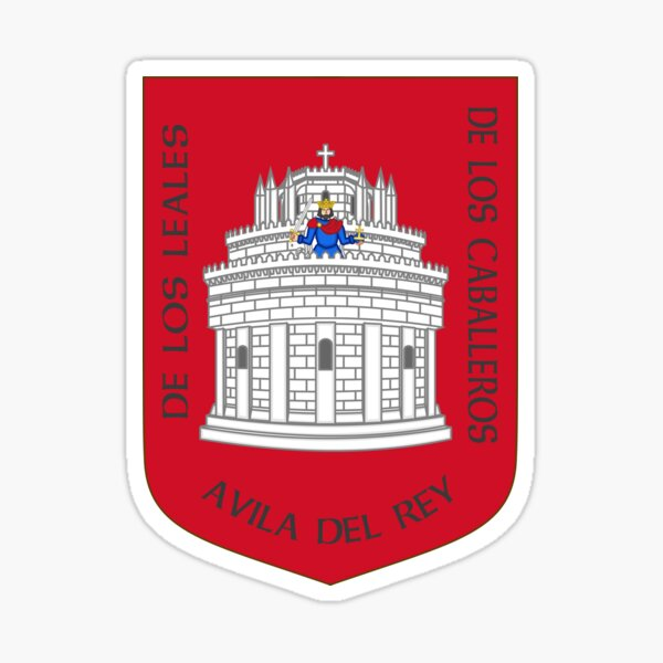 Coat of Arms of Ávila, Spain Sticker