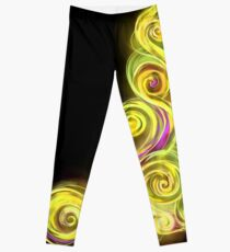 Yellow Neon Wave Leggings