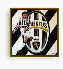 Alessandro Del Piero at Juventus FC Turin painting Canvas Print
