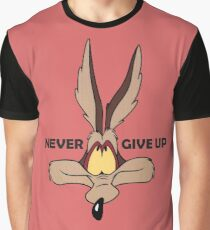 Coyote never give up funny t-shirt Graphic T-Shirt