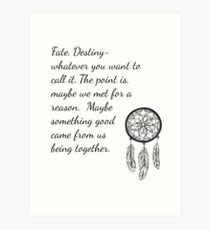 Once Upon a Time- Fate Quotes Art Print