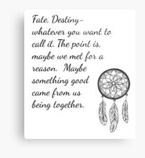 Once Upon a Time- Fate Quotes Metal Print
