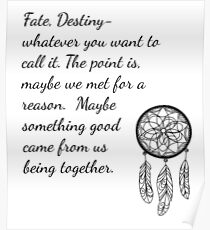 Once Upon a Time- Fate Quotes Poster