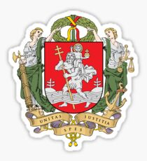 Coat of Arms of Vilnius, Lithuania Sticker